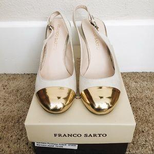 Franco Sarto Twinkle Slingback Heels